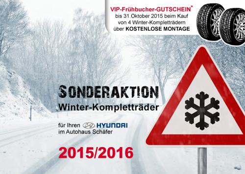 Sonderaktion Winter-Kompletträder